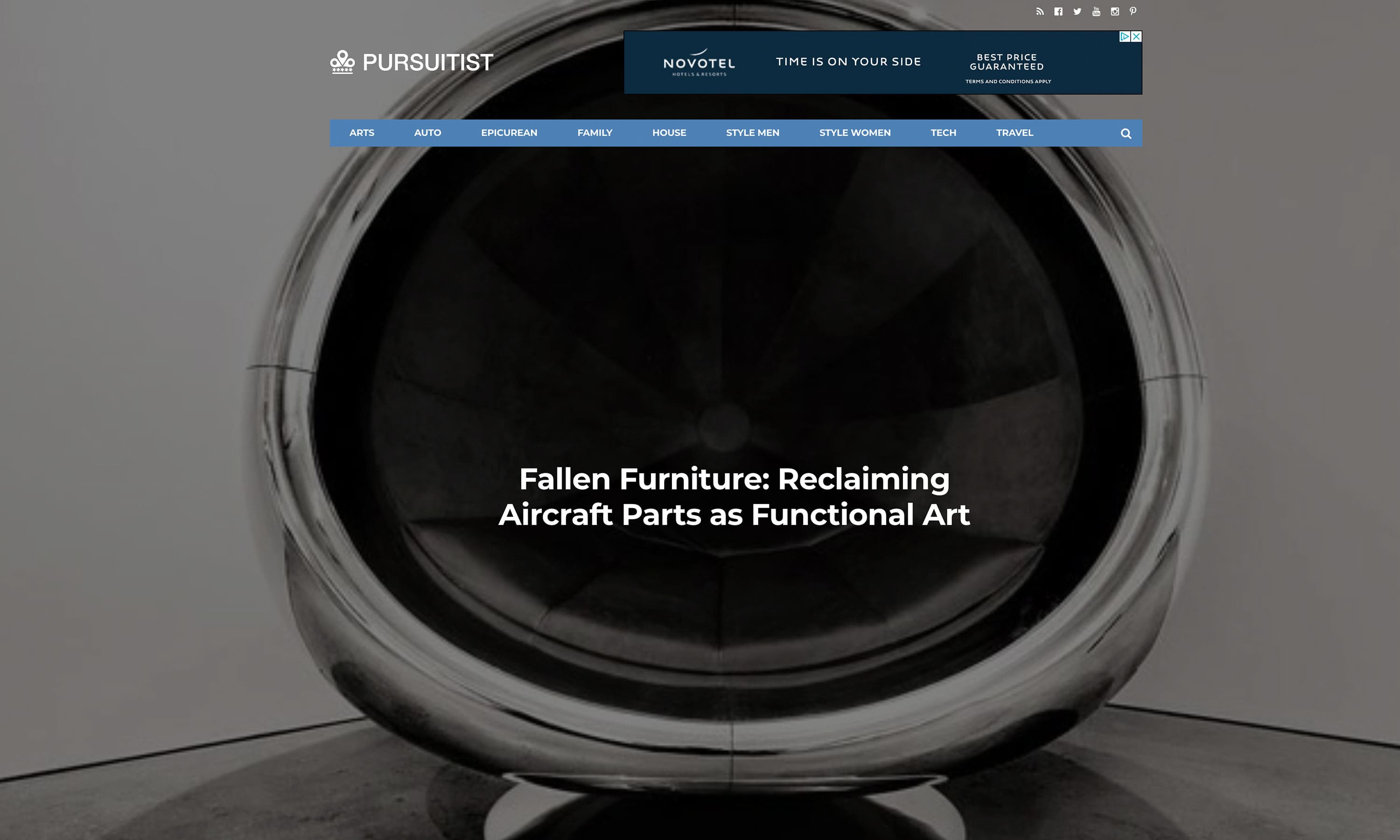 Pursuitist Aircraft Parts As Functional Art