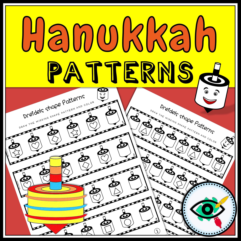 Hanukkah Dreidel Shape Patterns