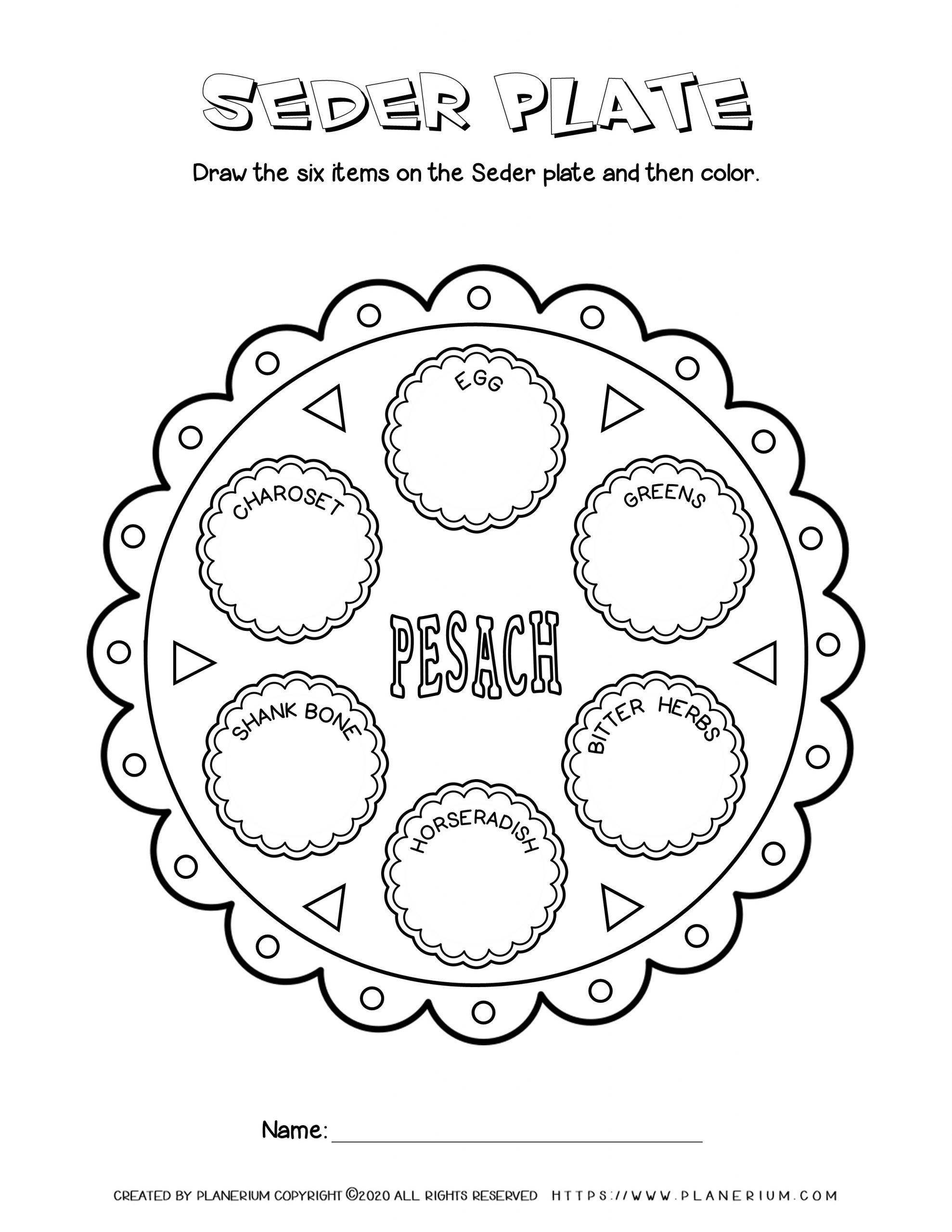 Passover Worksheet