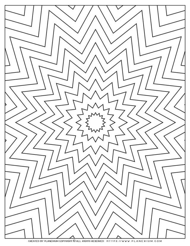 Nested Star Coloring Page  Geometric design  Free printable