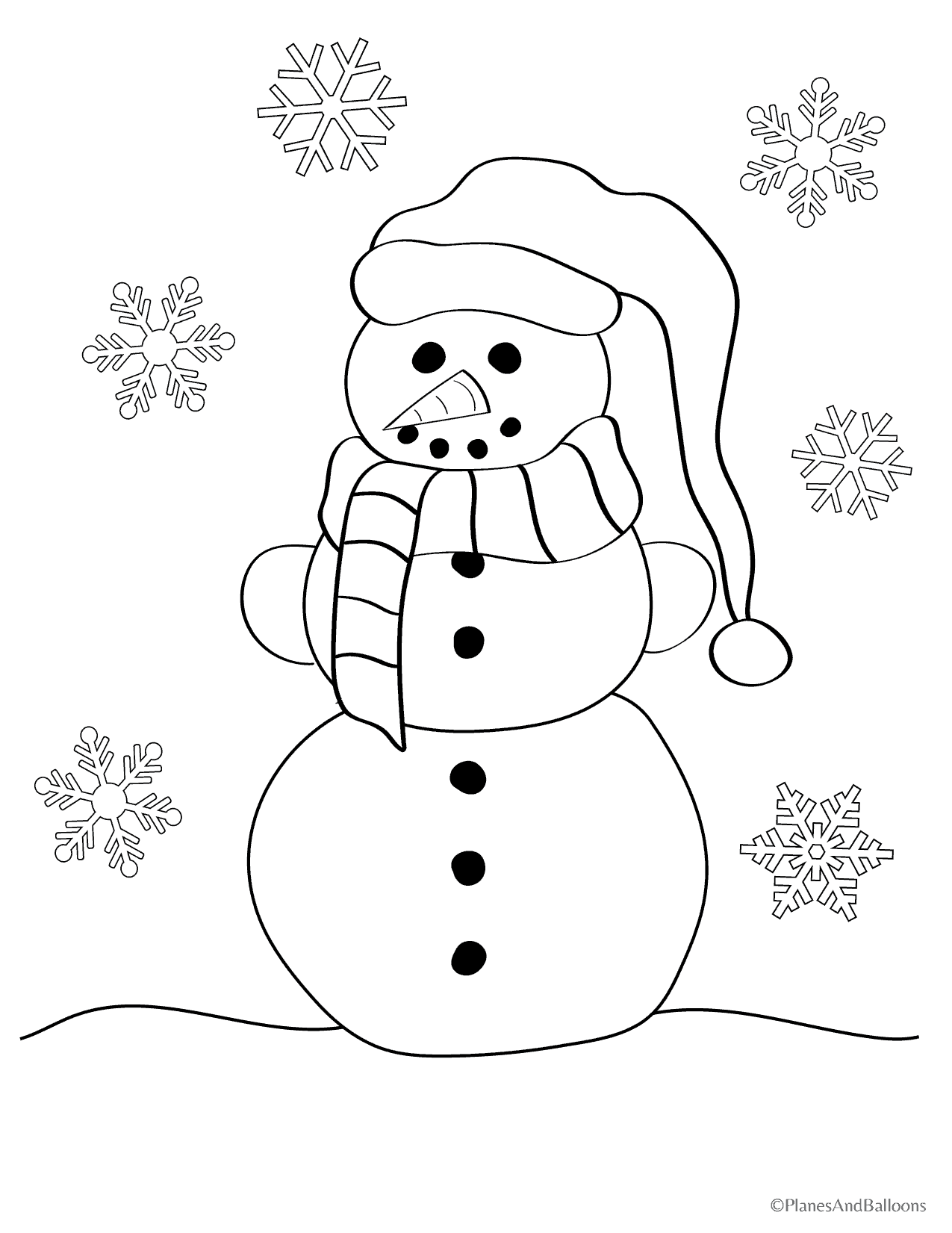 Snowman Worksheets For Kindergarten