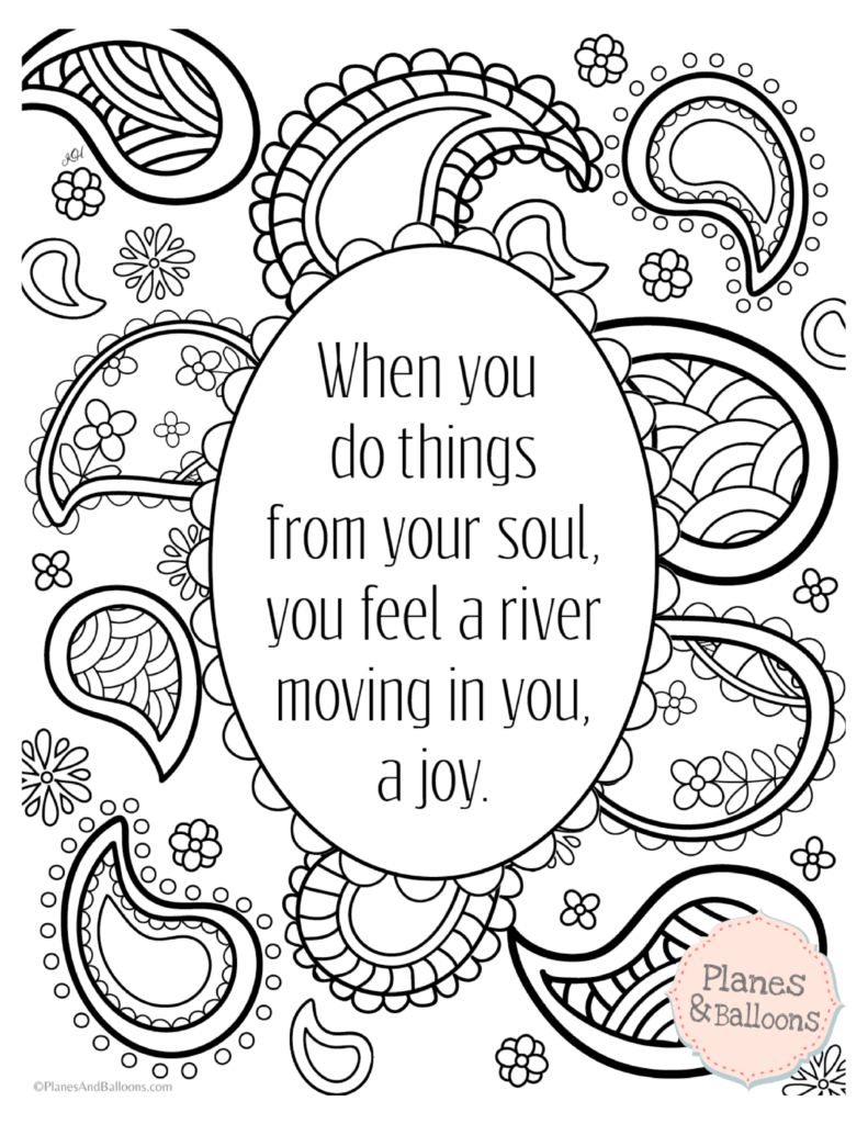 Positive quotes coloring pages to keep the good vibes flowing | free printable positive quotes coloring pages