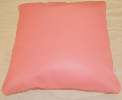 Bright Baby Pink Buffalo Leather Scatter Cushions From Brazil 40 Cm By 40 Cm