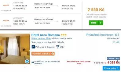 Letenka a ubytování Itálie