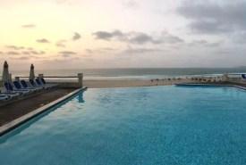 Výhled na oceán z bazénu, hotel Iberostar Club Boa Vista, Kapverdy