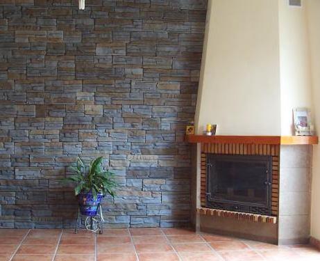 Revestimiento de piedra elegancia y solidez - Revestimiento de paredes imitacion piedra ...
