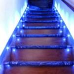 Iluminación de escaleras interiores
