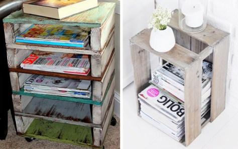 Muebles con palets simples.