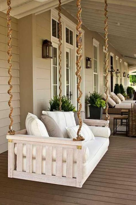 muebles con palets: sofá colgante