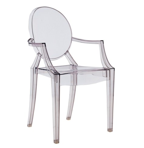 Silla Kartell Louis Ghost diseñada por Philippe Starck.
