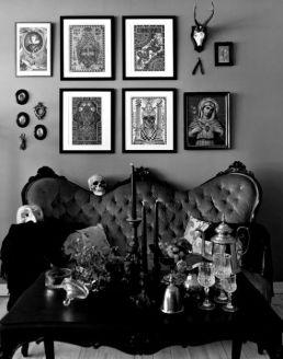 Salón estilo gótico