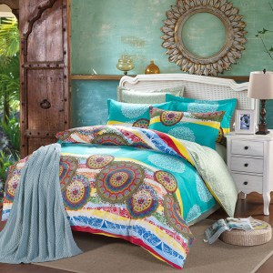 decorar una cama estilo étnico