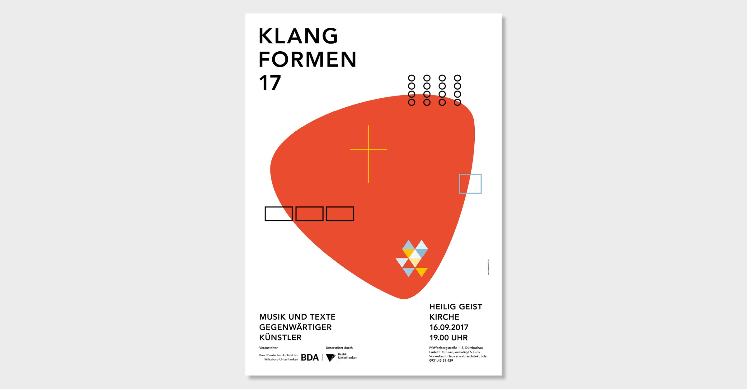 BDA Einladungskarte Klangform Heilig Geist Kirche Würzburg