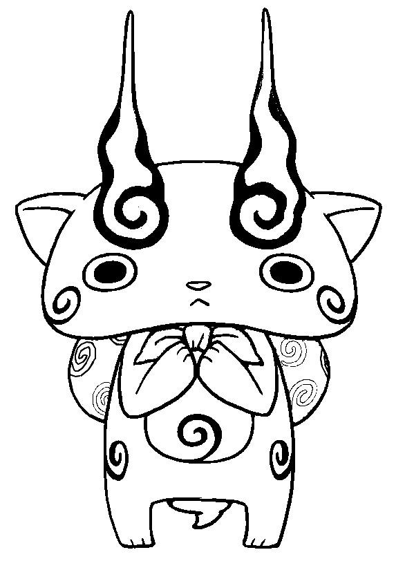 Yo Kai Watch Para Pintar Dibujos Para Imprimir Y Colorear