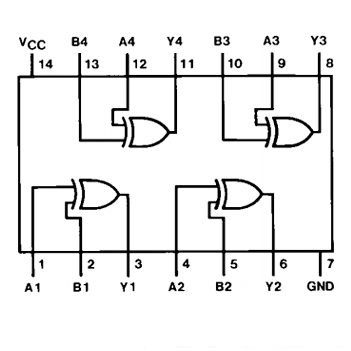 Circuito Integrado Xor Circuito Integrado Xor Compuerta Codigo Electronica Circuito Integrado