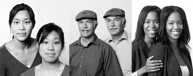 """Fotografías de Francois Brunelle en su proyecto: """"Je Ne Suis Pas Un Sosie"""")"""
