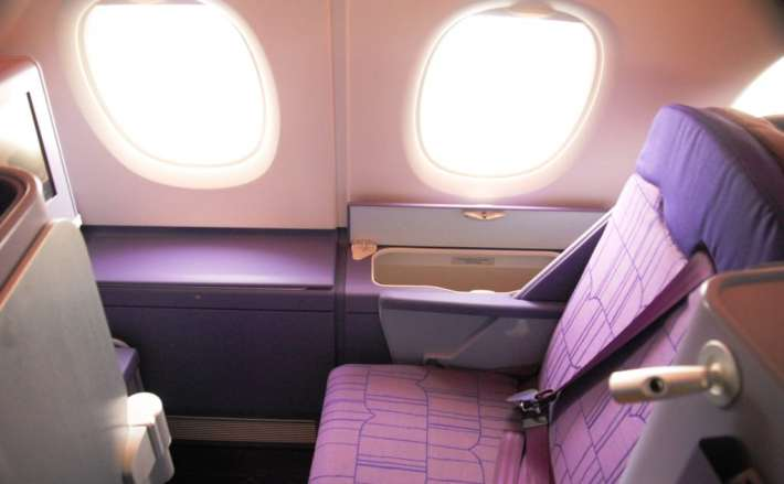 Extra storage space on the upper deck of the A380