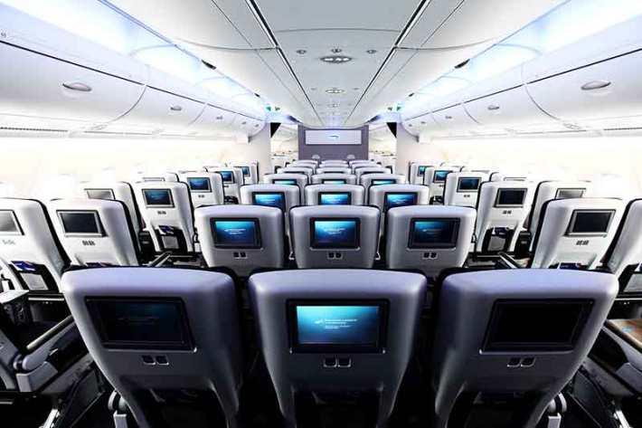 British Airways A380 Economy Cabin