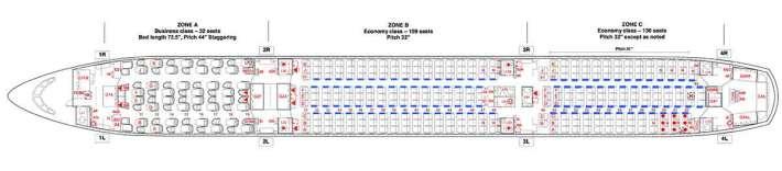 Thai Airways A350-900 Seat Map