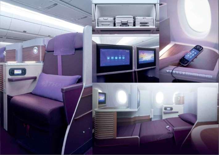 Thai Airways Airbus A350 Royal Silk Business class flat seat