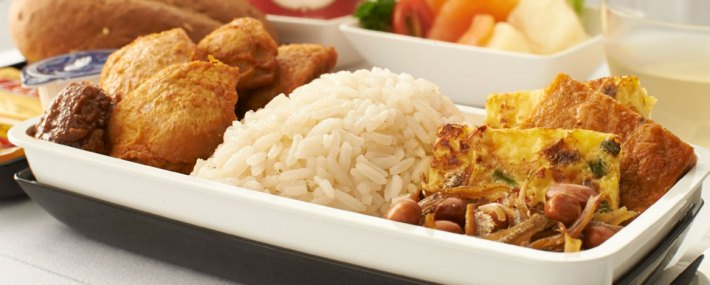 Singapore Airlines Nasi Lemak with Fried Chicken
