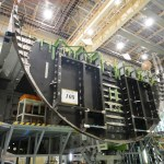 British Airwyas first Boeing 787 begins construction with the fuel tank situated between the wings