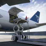 The Boeing 747-8F Cargo hold