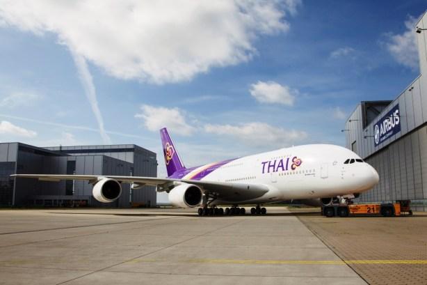 Thai Airways International no. 1 Airbus A380 livery