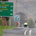 The bikers leave Glencoe for Loch Lomond