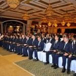 The graduates and their parents at the Etihad graduation ceremony held today at Al Raha Beach Hotel