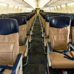 The new Southwest Airlines Evolve cabin interior on the Boeing 737-700