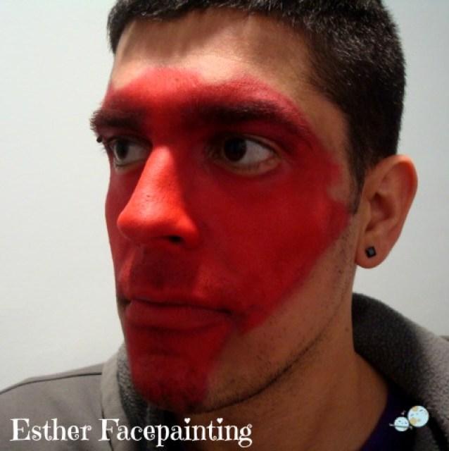 para maquillar un demonio rojo es muy sencillo maquillaje demonio - Maquillaje Demonio