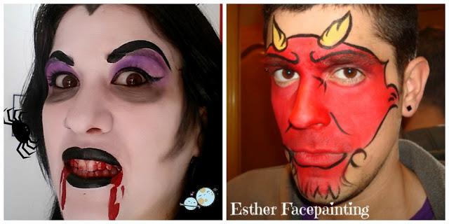 maquillaje de halloween vampiresa y demonio - Maquillaje Demonio