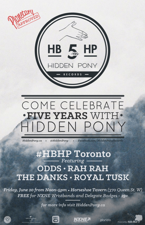 TorontoPoster - Planetary Approved: Hidden Pony's 5th Birthday At NXNE
