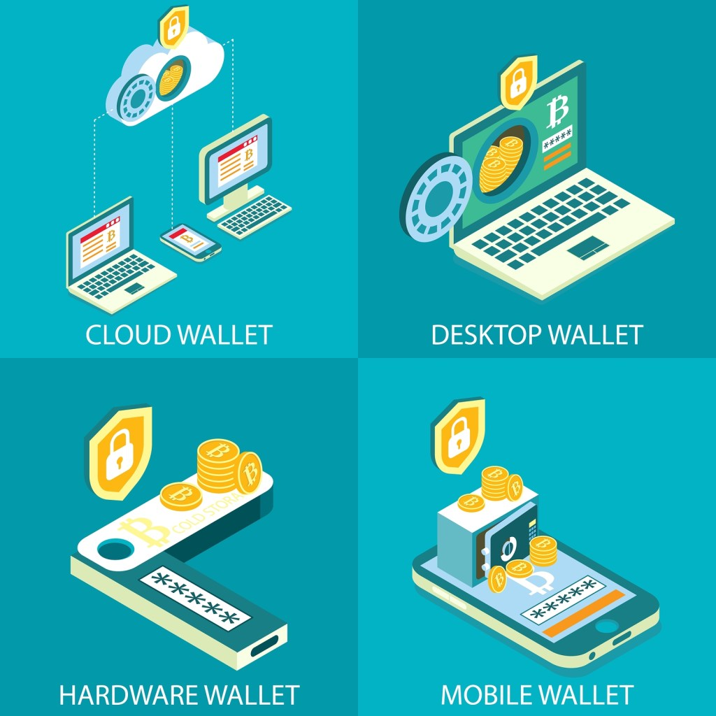 bigstock Cryptocurrency Wallet Icon Set 237456352 1024x1024 - What Are NFTs and How Could They Benefit Musicians?