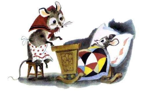 мышь и мышонок спит
