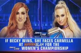 Carmella podría conocer su rival de Summerlsam la próxima semana en Smackdown Live