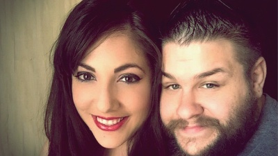 Kevin Owens and his wife WWE
