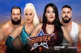 Rusev y Lana contra Andrade Cien Almas y Zelina Vega en SummerSlam