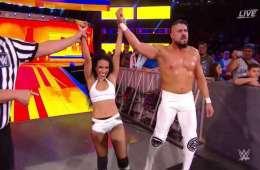 Zelina Vega y Andrade Cien Almas salen victoriosos en Summerslam