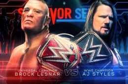 Brock Lesnar vs AJ Styles oficial en WWE Survivor Series
