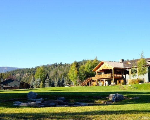Views of the lodge from the river