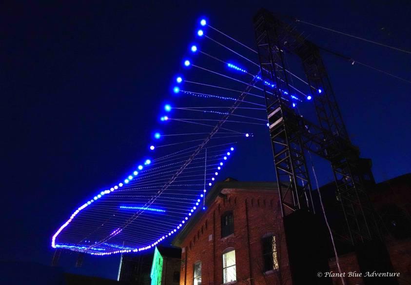 Toronto Light Fest Double Helix