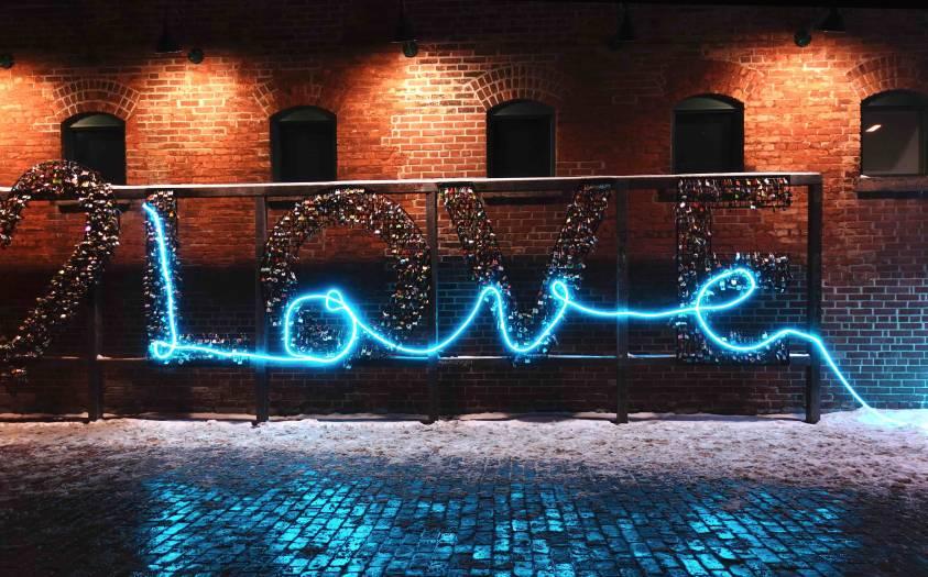 Toronto Light Fest Lit Love locks