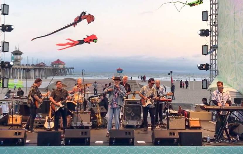 Huntington Beach live concert near the world famous pier.