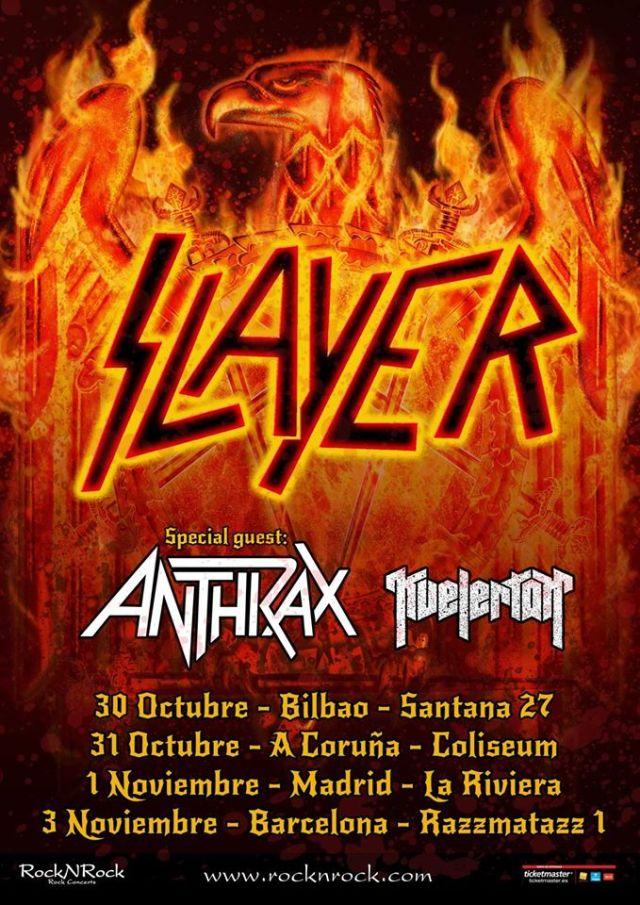 Slayer Spanish tour 2015