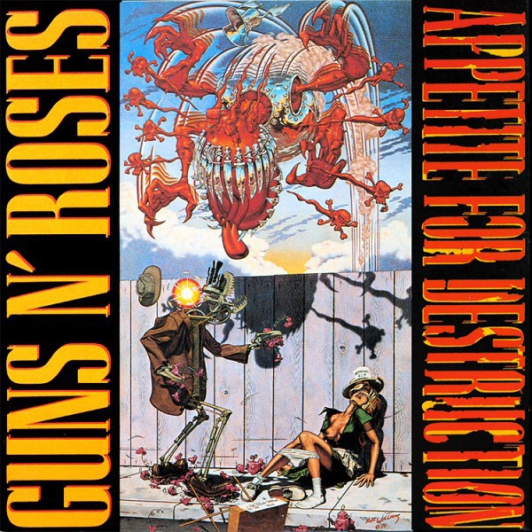 portada original appetite for destruction de gusn n roses censurada