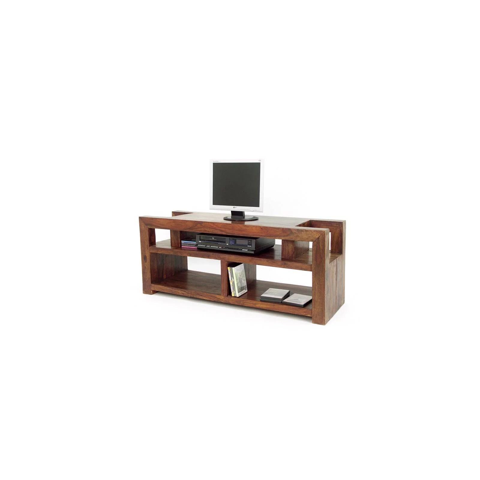 meuble tv palissandre massif zen