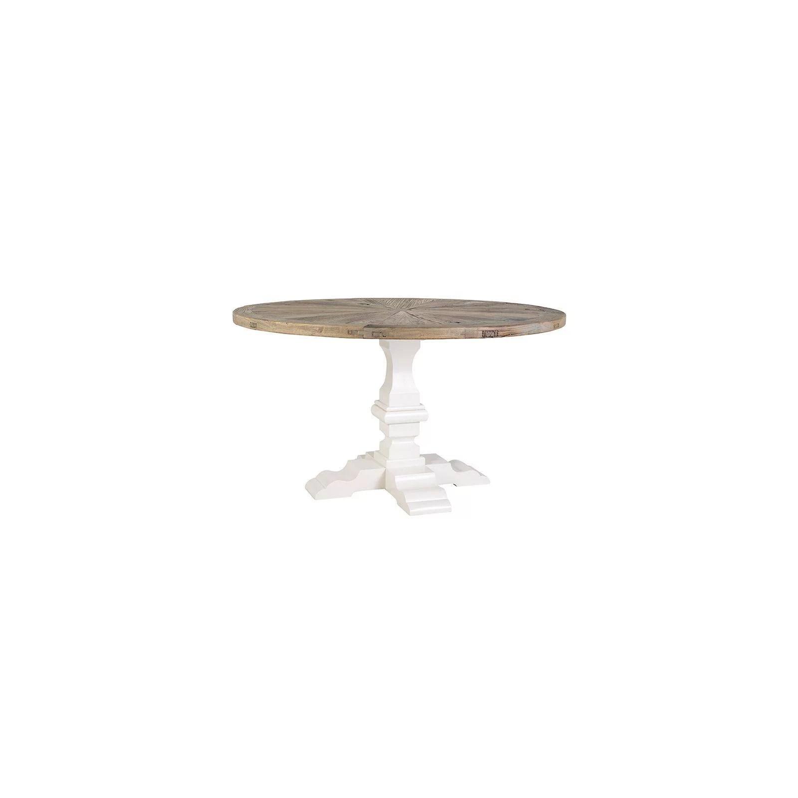 table de salle ronde victoria pin