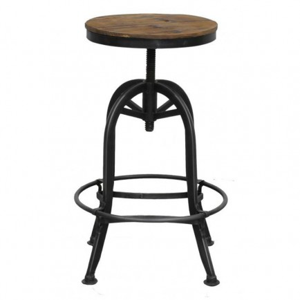 tabouret de bar reglable manguier fabric